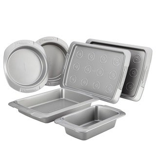 Cake Boss Deluxe Nonstick Bakeware 6-piece Bakeware Set, Grey