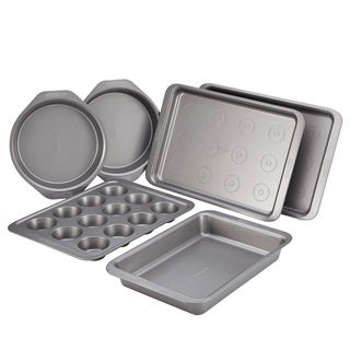 Cake Boss Grey 6-Piece Gray Nonstick Bakeware Set