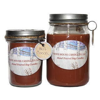 Hot Cocoa 8-16-ounce Soy Container Candle