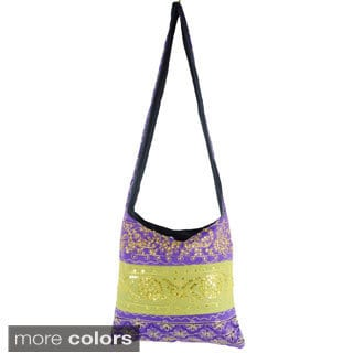 Handmade Sequin and Embroidery Cross-body Bag (India)