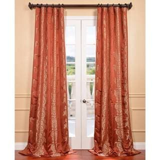 Russet Faux Silk Surrey Jacquard Curtain Panel