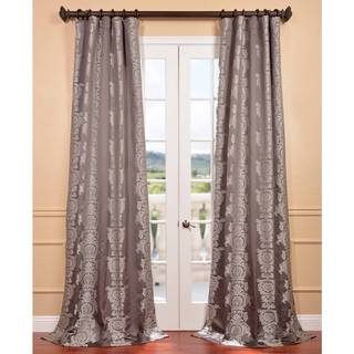 Smoke Faux Silk Surrey Jacquard Curtain Panel