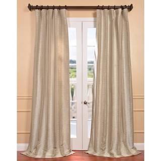 Natural Faux Silk Xena Jacquard Curtain Panel
