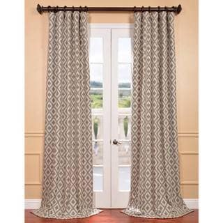 Stone Faux Silk Jacquard Athena Curtain Panel
