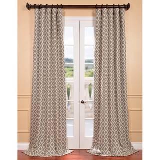Stone Faux Silk Jacquard Athena Curtain Panel