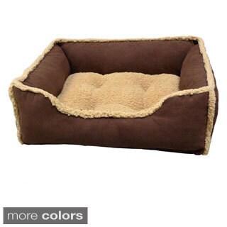 Micro Suede Puggz Rectangle Cuddler Pet Bed