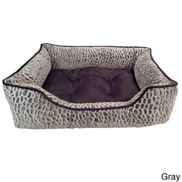 Zuma Tip Dyed Micro Mink Rectangle Cuddler Pet Bed 12016341