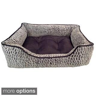 Zuma Tip Dyed Micro Mink Rectangle Cuddler Pet Bed