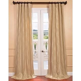 Elsa Beige Jacquard Curtain Panel
