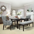 Vinemont Rustic Driftwood Rectangular Extending Dining Table