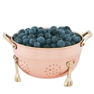 Six-Inch Diameter Stainless Steel Copper/Brass Berry Colander