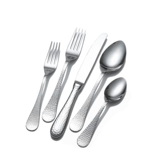 Wallace Continental Hammered 65 Piece Flatware Set