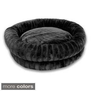 Channel Hastings Faux Fur Round Cuddler Pet Bed