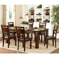 TRIBECCA HOME Coral Walnut 7-piece Extending Table Dining Set