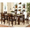 Coral Walnut 7-piece Extending Table Dining Set