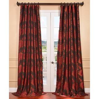 Borneo Rouge Ikat Jacquard Curtain Panel