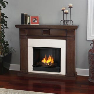 Real Flame Porter Vintage Black Maple Gel Fireplace