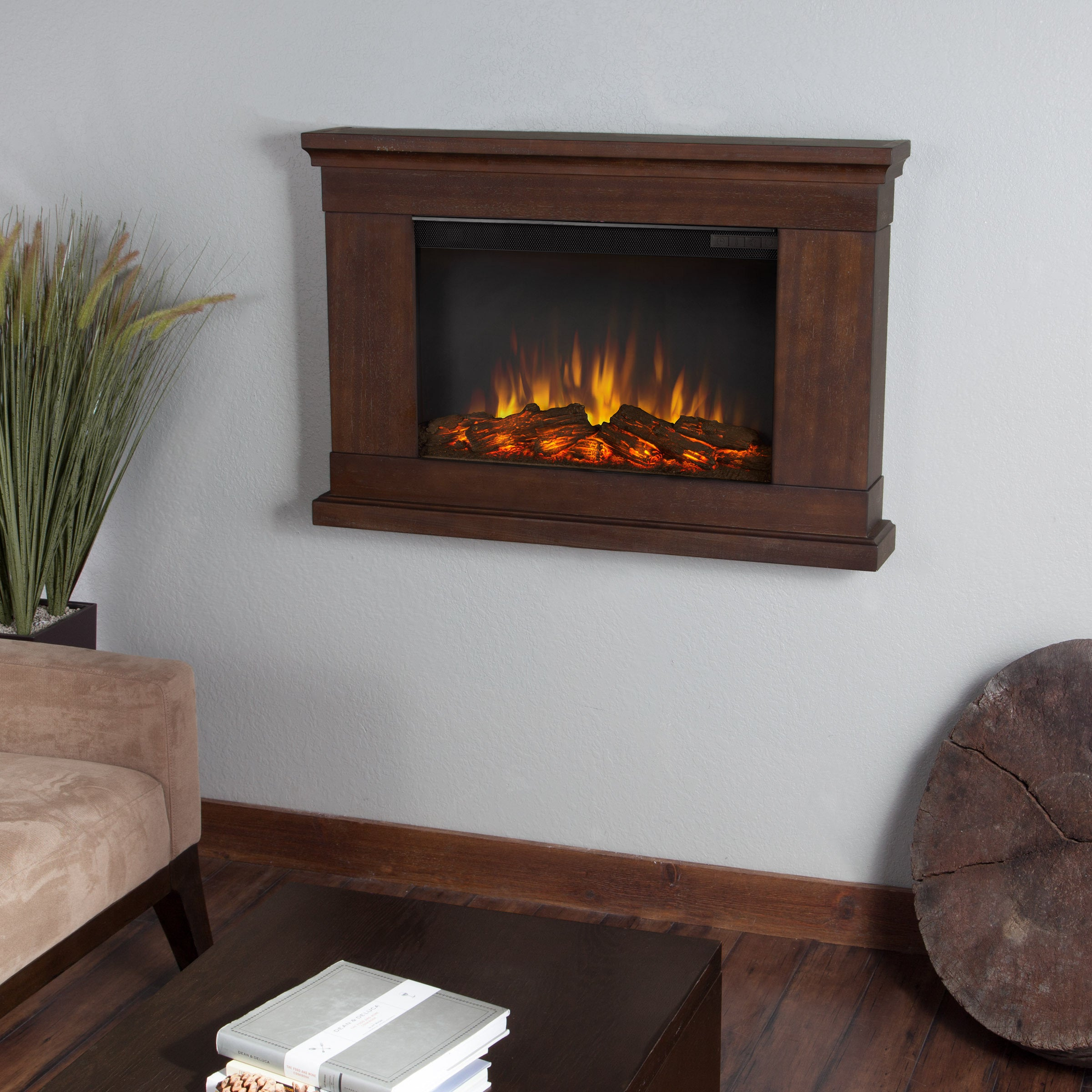 Real Flame 'Jackson' Vintage Black Maple Electric Fireplace at Sears.com