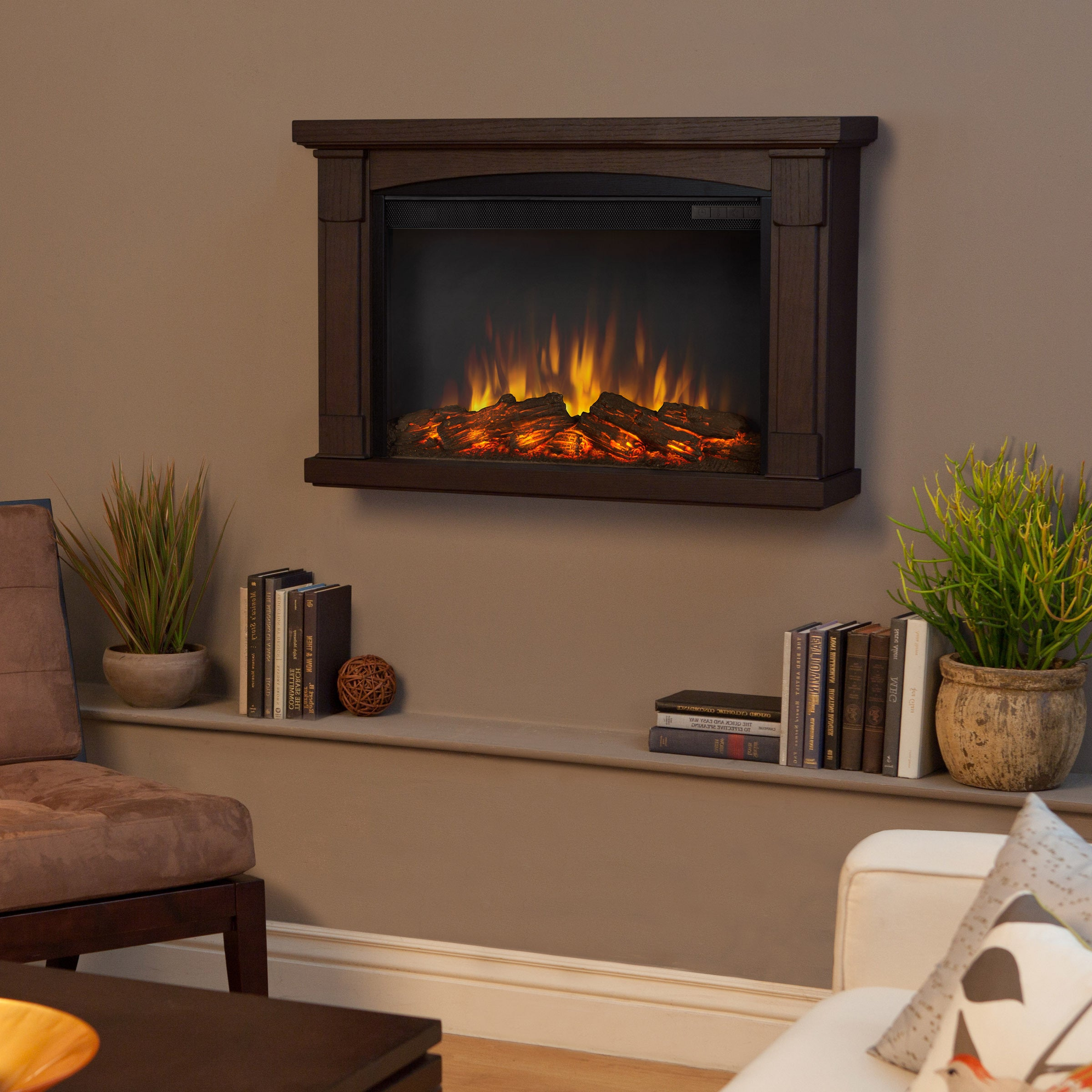 Real Flame 'Brighton' Chestnut Oak Electric Fireplace at Sears.com