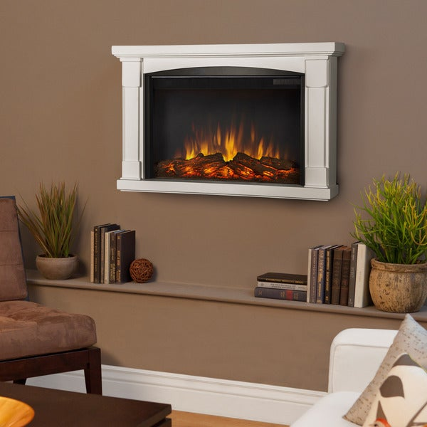 Real Flame 'Brighton' White Electric Fireplace