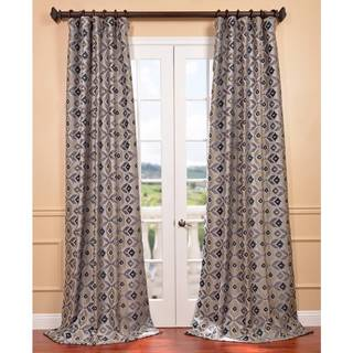 Flanders Multi-colored Faux Silk Jacquard Curtain Panel