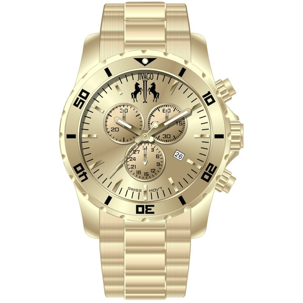 Jivago Men's Ultimate Gold-tone Chronograph Watch