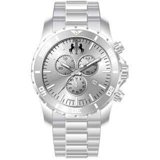 Jivago Men's Ultimate Stainless Steel Silver/ Silver Chronograph Watch