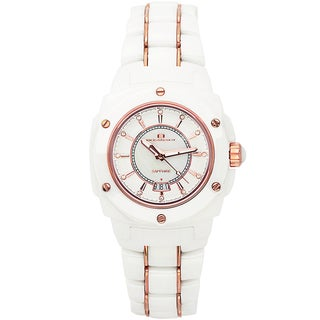 Oceanaut Women's Ceramic White Watch with Bonus Black Watch