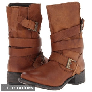 Steve Madden Women's 'Brewzzer' Buckle Detail Mortorcycle Boots