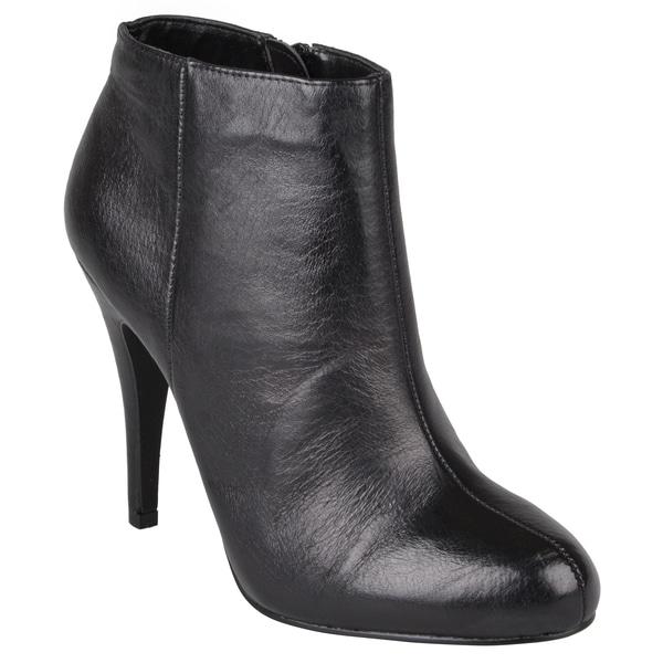Steve madden women s armen leather high heel booties 15812240