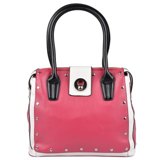 Journee Collection Womens Studded Double-handled Satchel