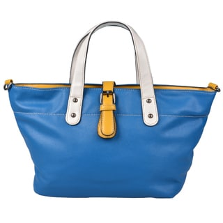Journee Collection Womens Faux Leather Double Handled Handbag