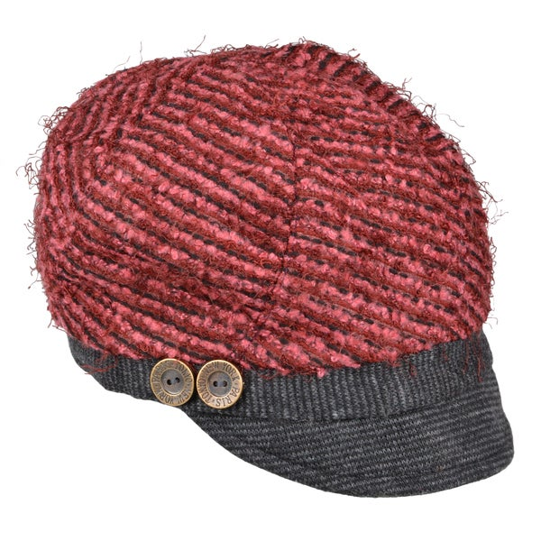 Journee Collection Womens Button Accent Newsboy Cap