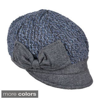 Journee Collection Womens Bow Accent Newsboy Cap
