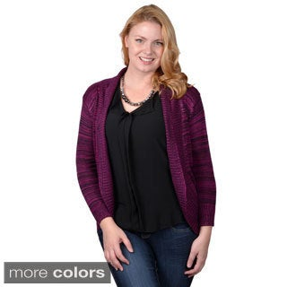Tressa Designs Womens Contemporary Plus Long Open Front Cardigan