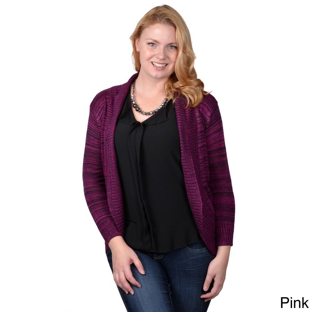 Tressa Collection Tressa Designs Womens Contemporary Plus Long Open Front Cardigan