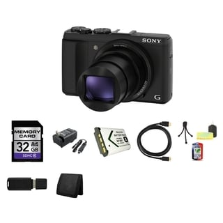 Sony Cyber Shot HX50V 20.4MP Black WiFi GPS Digital Camera 32GB Bundle