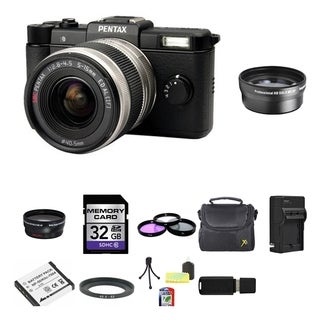 Pentax Q 12.4MP Black Digital Camera with 5-15mm Lens Bundle