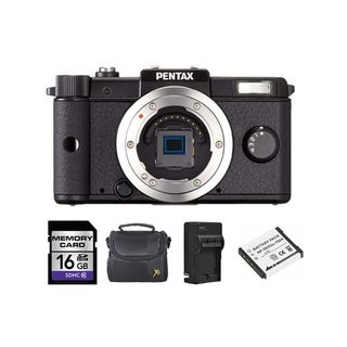 Pentax Q 12.4MP Black Digital SLR Camera Bundle (Body Only)