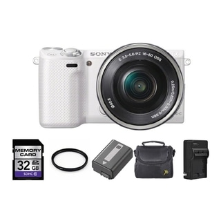 Sony Alpha NEX-5R Mirrorless Camera Body with 16-50mm Lens 32GB Bundle