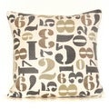Numbers 20-inch Down Throw Pillow