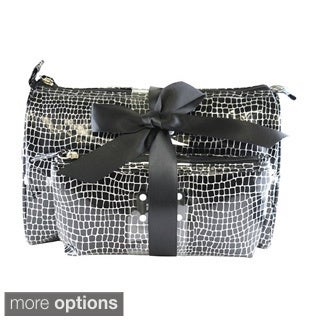 Kenneth Cole Reaction 2-Piece Croc Print Cosmetic Bag Set