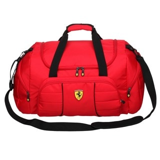 Ferrari Red Overnight Duffel Bag