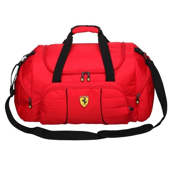 Ferrari Red Overnight Duffel Bag