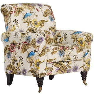 Portfolio Hyde Floral and Bird Arm Chair