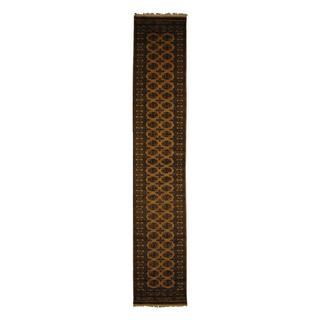 Herat Oriental Pakistan Hand-knotted Prince Bokhara Beige/ Ivory Wool Rug (2'6 x 14')