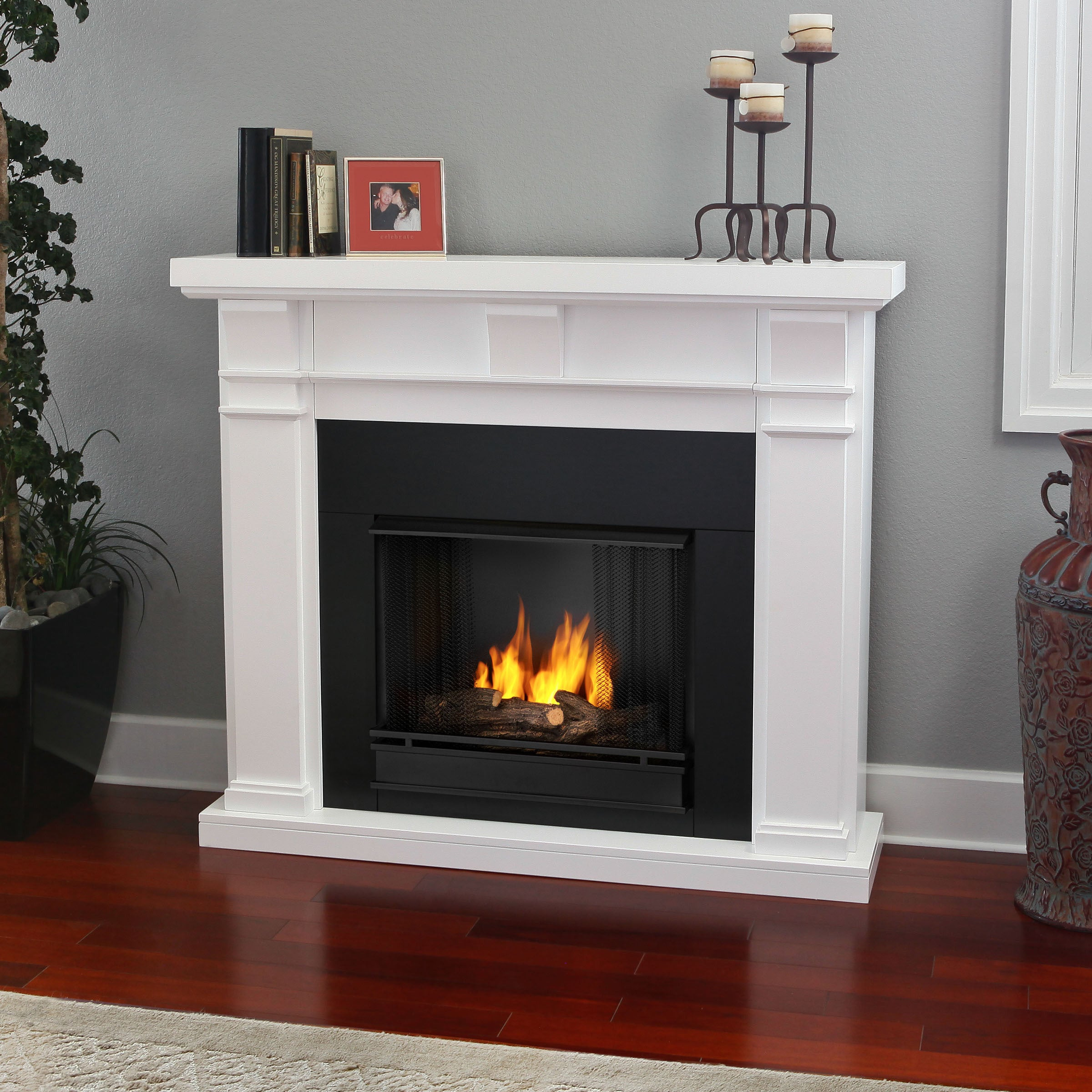 Real Flame 'Porter' White Gel Fireplace at Sears.com