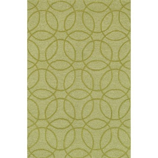 Hand Tufted Benson Chartreuse Rug (5'0 x 7'6)
