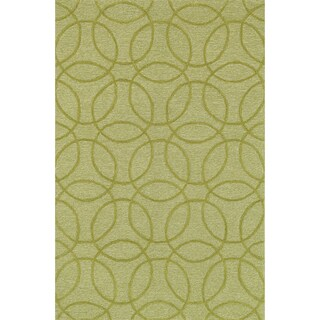 Hand Tufted Benson Chartreuse Rug (7'6 x 9'6)