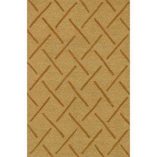 Hand Tufted Benson Gold Rug (5'0 x 7'6)